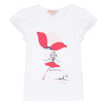 tekstylia Dziewczynka T-shirty z krótkim rękawem Lili Gaufrette KATINE Biały
