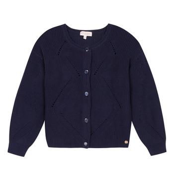 tekstylia Dziewczynka Swetry rozpinane / Kardigany Lili Gaufrette MADINE Marine
