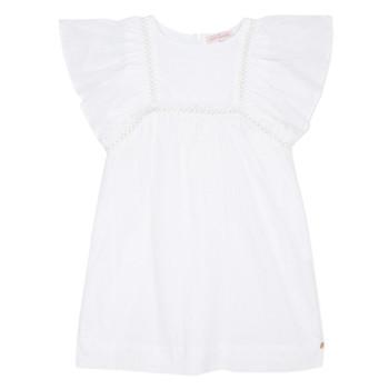 tekstylia Dziewczynka Sukienki krótkie Lili Gaufrette MELINA Biały