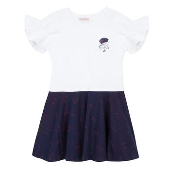 tekstylia Dziewczynka Sukienki krótkie Lili Gaufrette PERRINE Biały