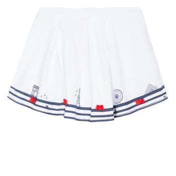 tekstylia Dziewczynka Spódnice Lili Gaufrette MAYA Biały