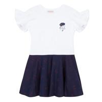 tekstylia Dziewczynka Sukienki krótkie Lili Gaufrette MENDI Biały