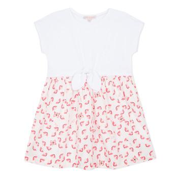 tekstylia Dziewczynka Sukienki krótkie Lili Gaufrette CAYDEN Biały