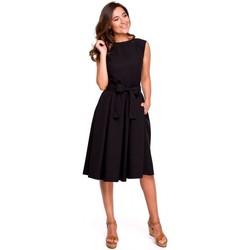 tekstylia Damskie Sukienki Be B126 Sukienka tunika bez rękawów Limonkowy