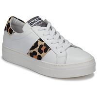 Buty Damskie Trampki niskie Meline GETSET Biały / Leopard
