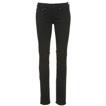 tekstylia Damskie Jeansy straight leg G-Star Raw ATTACC MID STRAIGHT Czarny