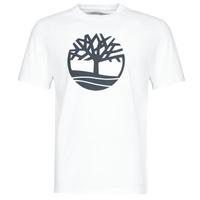 tekstylia Męskie T-shirty z krótkim rękawem Timberland SS KENNEBEC RIVER BRAND TREE TEE Biały