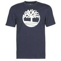 tekstylia Męskie T-shirty z krótkim rękawem Timberland SS KENNEBEC RIVER BRAND TREE TEE Marine