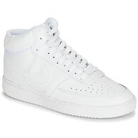 Buty Damskie Trampki wysokie Nike COURT VISION MID Biały