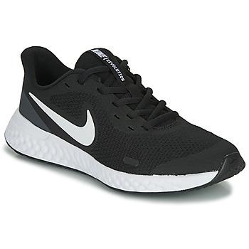 Buty Dziecko Trampki niskie Nike REVOLUTION 5 GS Czarny / Biały
