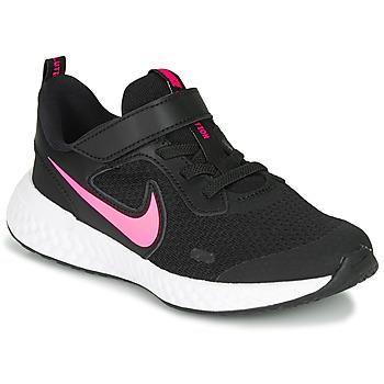 Buty Dziewczynka Multisport Nike REVOLUTION 5 PS Czarny / Różowy