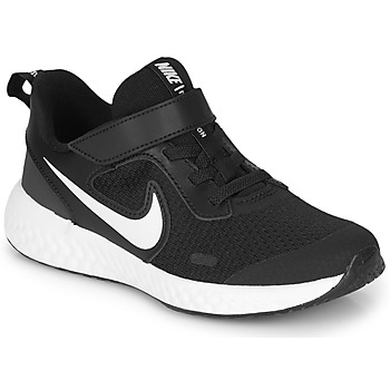 Buty Dziecko Multisport Nike REVOLUTION 5 PS Czarny / Biały