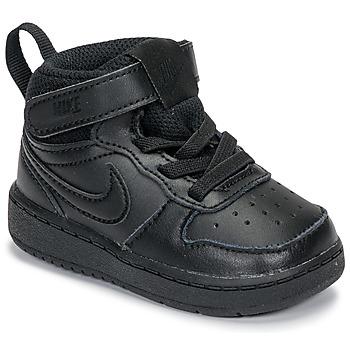 Buty Dziecko Trampki niskie Nike COURT BOROUGH MID 2 TD Czarny