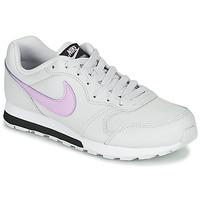 Buty Dziewczynka Trampki niskie Nike MD RUNNER GS Biały / Różowy