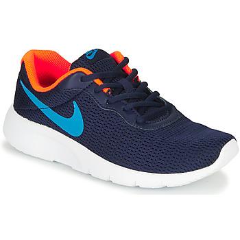 Buty Chłopiec Trampki niskie Nike TANJUN GS Niebieski
