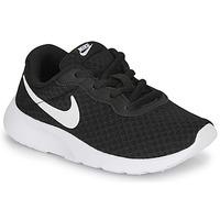 Buty Dziecko Trampki niskie Nike TANJUN PS Czarny / Biały
