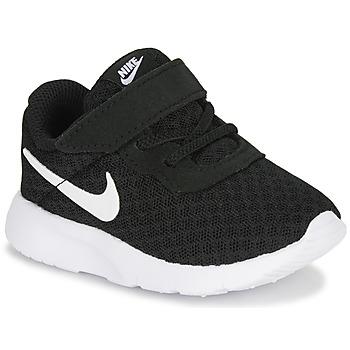 Buty Dziecko Trampki niskie Nike TANJUN TD Czarny / Biały