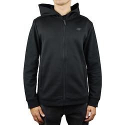 tekstylia Męskie Bluzy 4F Men Hoodie X4Z18-BLM201BLK Czarne