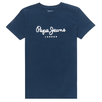 tekstylia Chłopiec T-shirty z krótkim rękawem Pepe jeans ART Marine