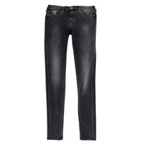 tekstylia Dziewczynka Jeansy slim fit Pepe jeans PAULETTE Czarny
