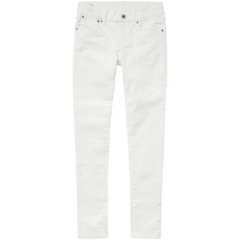 tekstylia Dziewczynka Jeansy slim fit Pepe jeans PIXLETTE Biały