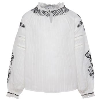 tekstylia Dziewczynka Topy / Bluzki Pepe jeans RONIE Biały