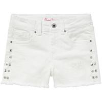 tekstylia Dziewczynka Szorty i Bermudy Pepe jeans ELSY Biały
