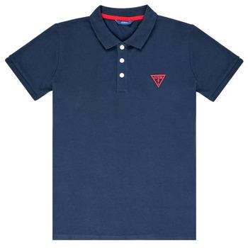 tekstylia Chłopiec Koszulki polo z krótkim rękawem Guess HOSNI Marine