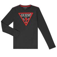 tekstylia Chłopiec T-shirty z długim rękawem Guess HERVE Czarny