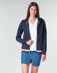 tekstylia Damskie Bluzy Tommy Hilfiger HERITAGE ZIP THROUGH HOODIE Marine