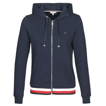 tekstylia Damskie Bluzy Tommy Hilfiger HERITAGE ZIP THROUGH HOODIE Marine