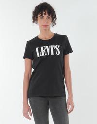 tekstylia Damskie T-shirty z krótkim rękawem Levi's THE PERFECT TEE Czarny