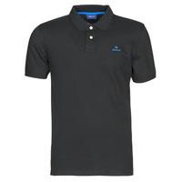 tekstylia Męskie Koszulki polo z krótkim rękawem Gant GANT CONTRAST COLLAR PIQUE POLO Czarny / Niebieski