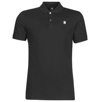 tekstylia Męskie Koszulki polo z krótkim rękawem G-Star Raw DUNDA SLIM POLO SS Czarny