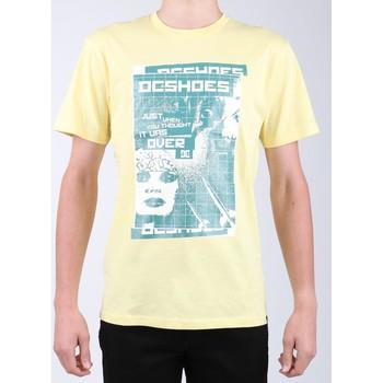 tekstylia Męskie T-shirty z krótkim rękawem DC Shoes T-shirt DC SEDYZT03769-YZL0 żółty