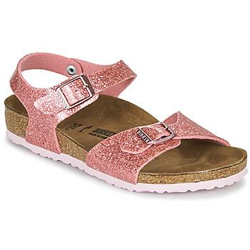 Buty Dziewczynka Sandały Birkenstock RIO PLAIN Cosmic / Old / Różowy