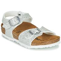 Buty Dziewczynka Sandały Birkenstock RIO PLAIN Biały
