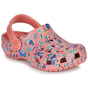 Buty Damskie Chodaki Crocs LIBERTY LONDON X CLASSIC LIBERTY GRAPHIC CLOG K Różowy