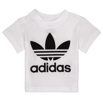 tekstylia Dziecko T-shirty z krótkim rękawem adidas Originals MAELYS Biały