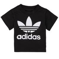 tekstylia Dziecko T-shirty z krótkim rękawem adidas Originals MARGOT Czarny