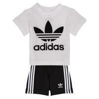 tekstylia Dziecko Komplet adidas Originals CAROLINE Biały / Czarny