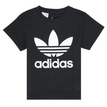 tekstylia Dziecko T-shirty z krótkim rękawem adidas Originals LEILA Czarny