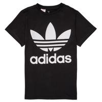 tekstylia Dziecko T-shirty z krótkim rękawem adidas Originals MAXENCE Czarny