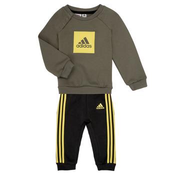 tekstylia Chłopiec Komplet adidas Performance MERLO Szary / Żółty