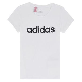 tekstylia Dziewczynka T-shirty z krótkim rękawem adidas Performance NELIZO Biały