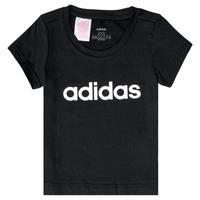tekstylia Dziewczynka T-shirty z krótkim rękawem adidas Performance NATRAZ Czarny