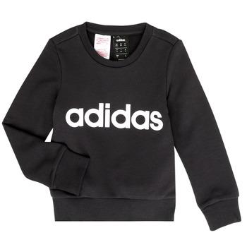 tekstylia Dziewczynka Bluzy adidas Performance MED Czarny