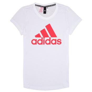 tekstylia Dziewczynka T-shirty z krótkim rękawem adidas Performance ELIOTE Biały