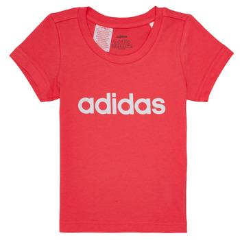 tekstylia Dziewczynka T-shirty z krótkim rękawem adidas Performance MAKIT Różowy
