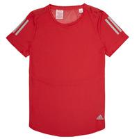 tekstylia Dziewczynka T-shirty z krótkim rękawem adidas Performance MELINDA Czerwony